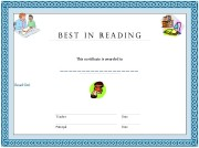 best reading  certificates