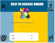 best science certificates